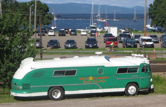 The Mighty Pickle, as the tour bus used by Rick and the Ramblers is known, has been a common sight near Burlington's waterfront in recent years.