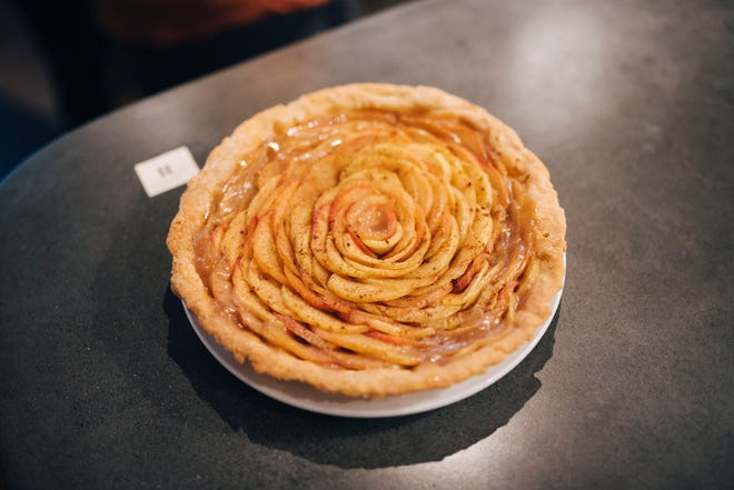 A beautiful pie baked by Owen Kunkel for the first ever Apple Pie Bake Off at The Great Northern on Oct. 28, 2018.