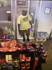 Surveillance photo of the man suspected of robbing a store in the 6600 block of Saratoga Boulevard on Oct. 29, 2018.