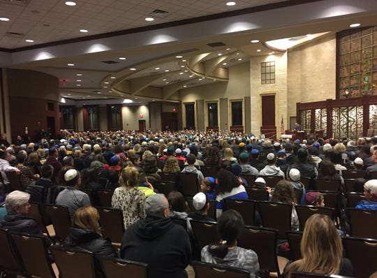 About 1,000 people attended a vigil at Congregation Beth El in Voorhees Sunday night to mourn victims of an anti-Semitic attack in Pittsburgh.