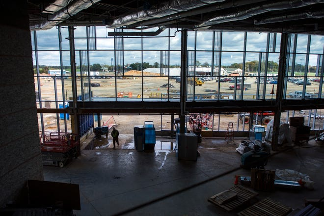 Construction continues at the new Inspira hospital Monday, Oct. 29, 2018, in Mullica Hill, N.J.
