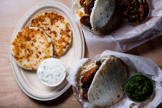 Arepas at The Arepa Place at Findlay Market in Over the Rhine on Friday, Oct. 26, 2018.