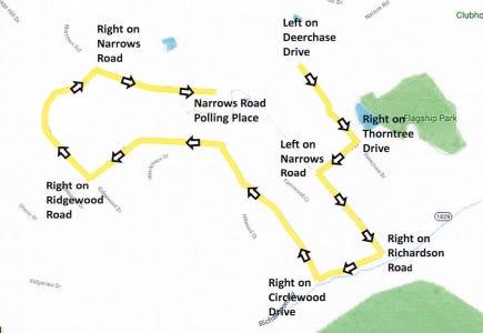 Direction map for Erlanger 11 precinct detour.