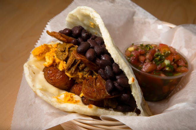 """""""The Great Arepa"""" at The Arepa Place at Findlay Market in Over the Rhine on Friday, Oct. 26, 2018."""