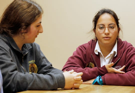 """Ayala Rosenthal, left, and Esty Peles, are 17-year-old students at Yeshiva Schools of Pittsburgh. """"Everyone has their own power to contribute to getting rid of hate,"""" Ayala told The Enquirer. """"...Everyone has kindness."""""""