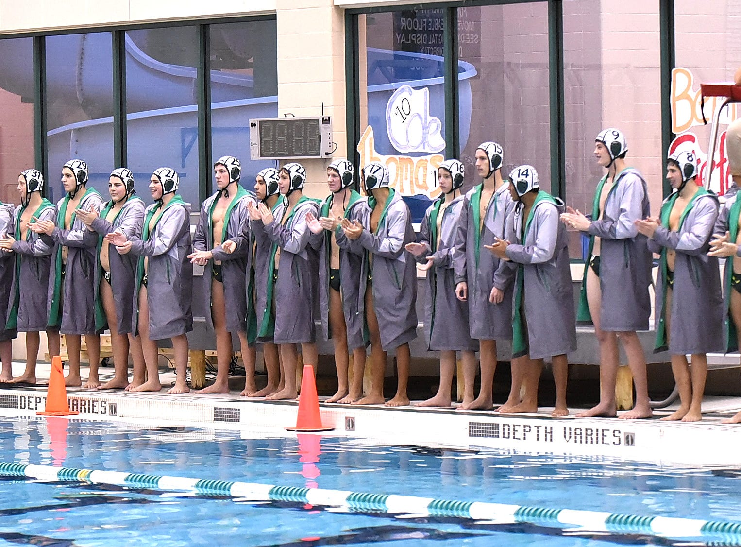 The Sycamore Aviators are introduced at the 2018 Ohio State Boys Water Polo Championship, October 27, 2018.