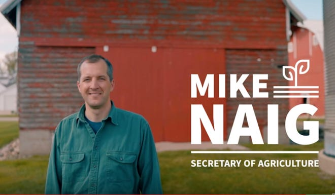 Mike Naig, the Republican candidate for secretary of agriculture, has begun airing television ads.