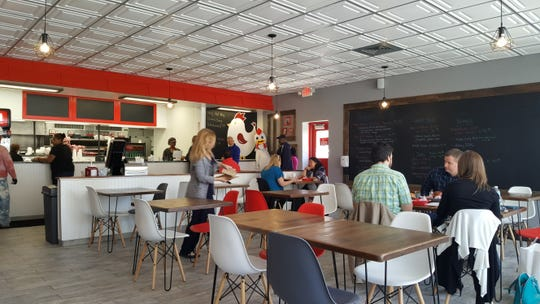 Afro-Caribbean food truck YumVillage is getting a brick-and-mortar home in the old Atomic Chicken space in Detroit's New Center neighborhood, pictured here April 24, 2017.