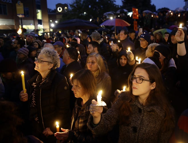 The University of Michigan in Ann Arbor hosted a vigil Sunday for the Pittsburgh synagogue shooting.