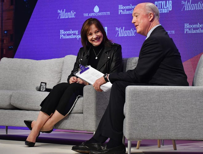 Under CEO Mary Barra, left, GM is delivering fat truck and SUV profit margins in North America, better positioning the automaker to invest in new technologies in the mobility, autonomy and electrification spaces.