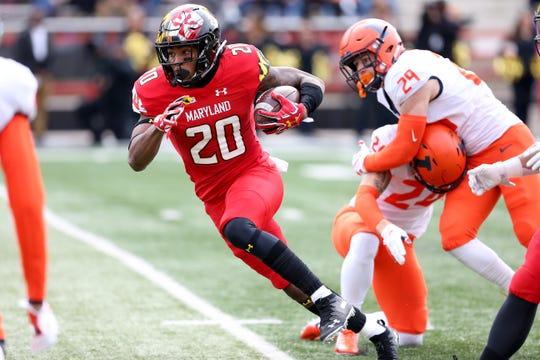 Maryland running back Javon Leake scored four touchdowns against Illinois.