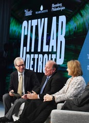 "Ron Brownstein, senior editor of The Atlantic, leads the discussion ""Unleashing Opportunity"" with Detroit Mayor Michael Duggan and Seattle Mayor Jenny Durkan."