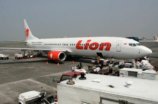 In this May 12, 2012 file photo, a Lion Air passenger jet is parked on the tarmac at Juanda International Airport in Surabaya, Indonesia. Indonesia's Lion Air said Monday, Oct. 29, 2018, it has lost contact with a passenger jet flying from Jakarta to an island off Sumatra.