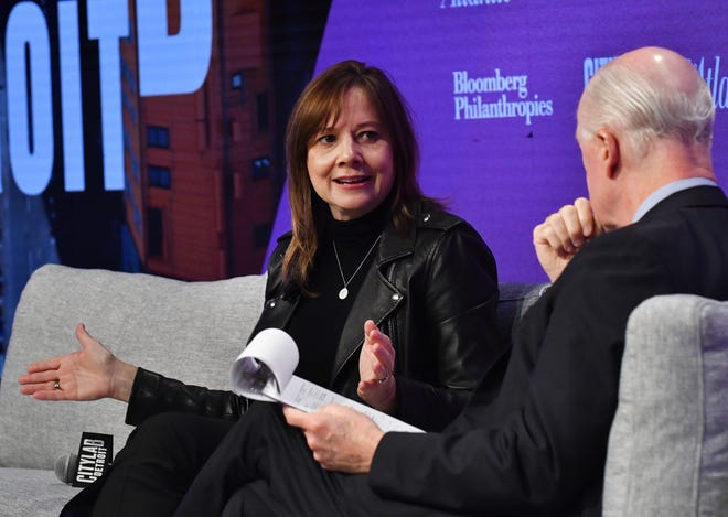 Mary Barra, CEO and Chairman of General Motors speaks with David Bradley, Chairman of Atlantic Media on the subject 'The Road Ahead.'