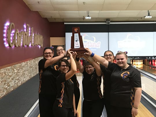 Cape Coral's girls bowling team overcame a morning defeat in the conference tournament to defeat Riverdale in the championship to secure back-to-back District 6 championships on Monday.