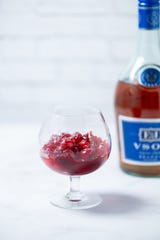 Brandied cranberries are an easy addition to  holiday meals.