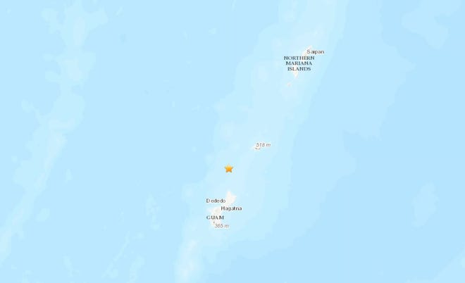 A 4.8 magnitude earthquake struck Guam on Oct. 29.