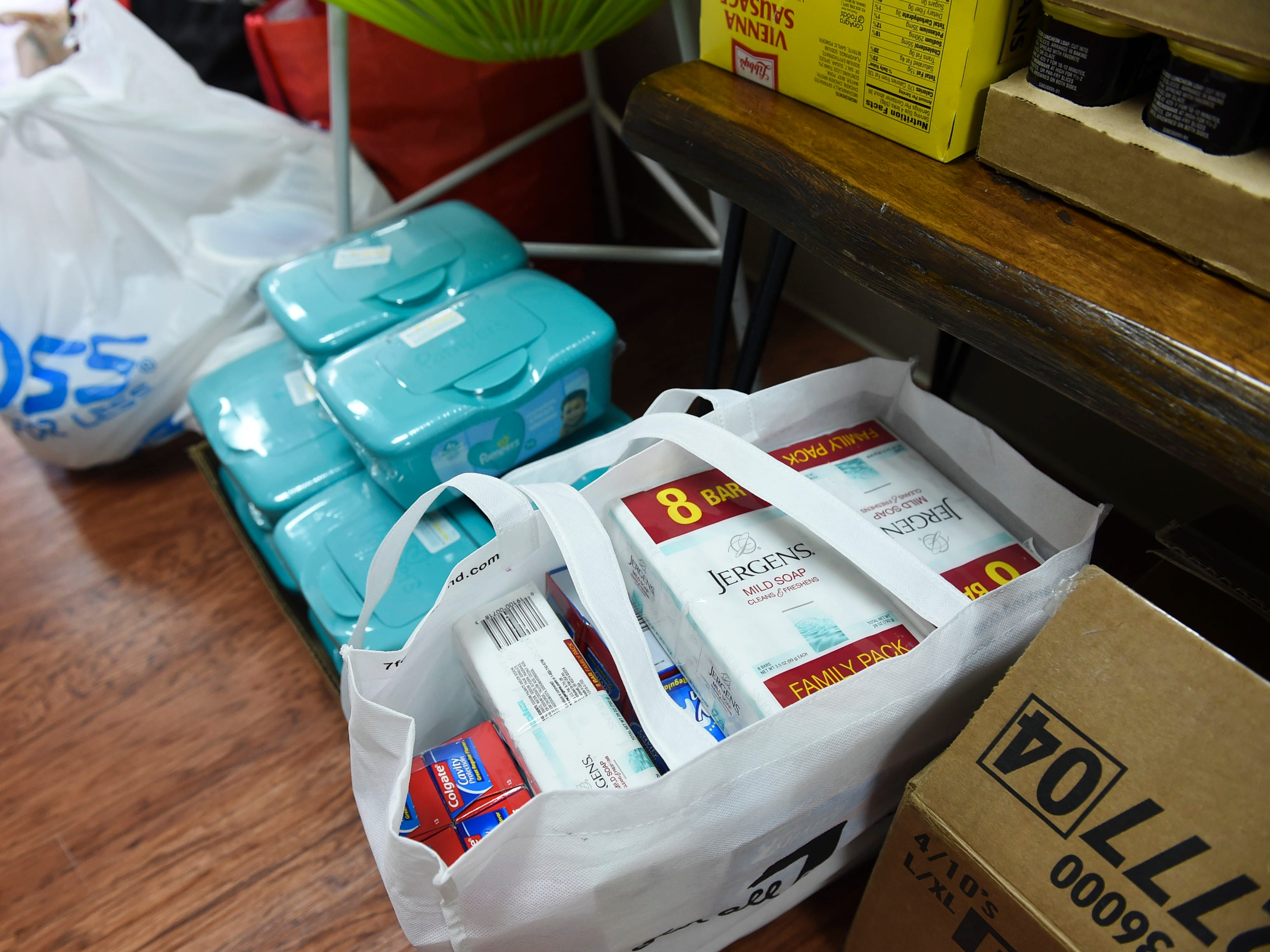 Donations for Prutehi Litekyan - Save Ritidian and Håya Foundation's Super Typhoon Yutu relief effort are collected at Health Shack in Hagåtña, Oct. 29, 2018.