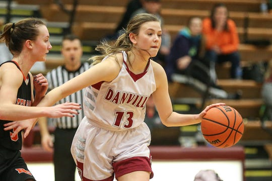 Danville's Ella Collier (13) is a do-everything guard for the Warriors.