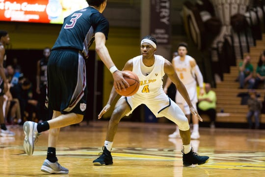 Bakari Evelyn is a redshirt junior guard for the Crusaders.