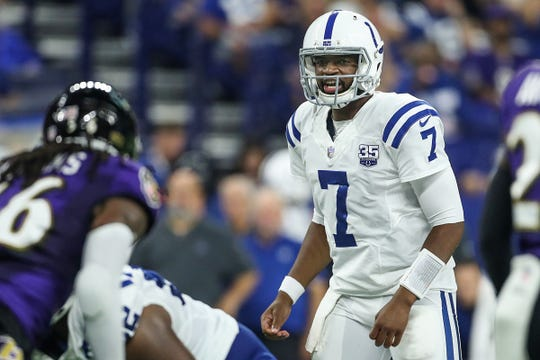 Colts QB Jacoby Brissett showed flashes during his understudy duty for an injured Andrew Luck last season.
