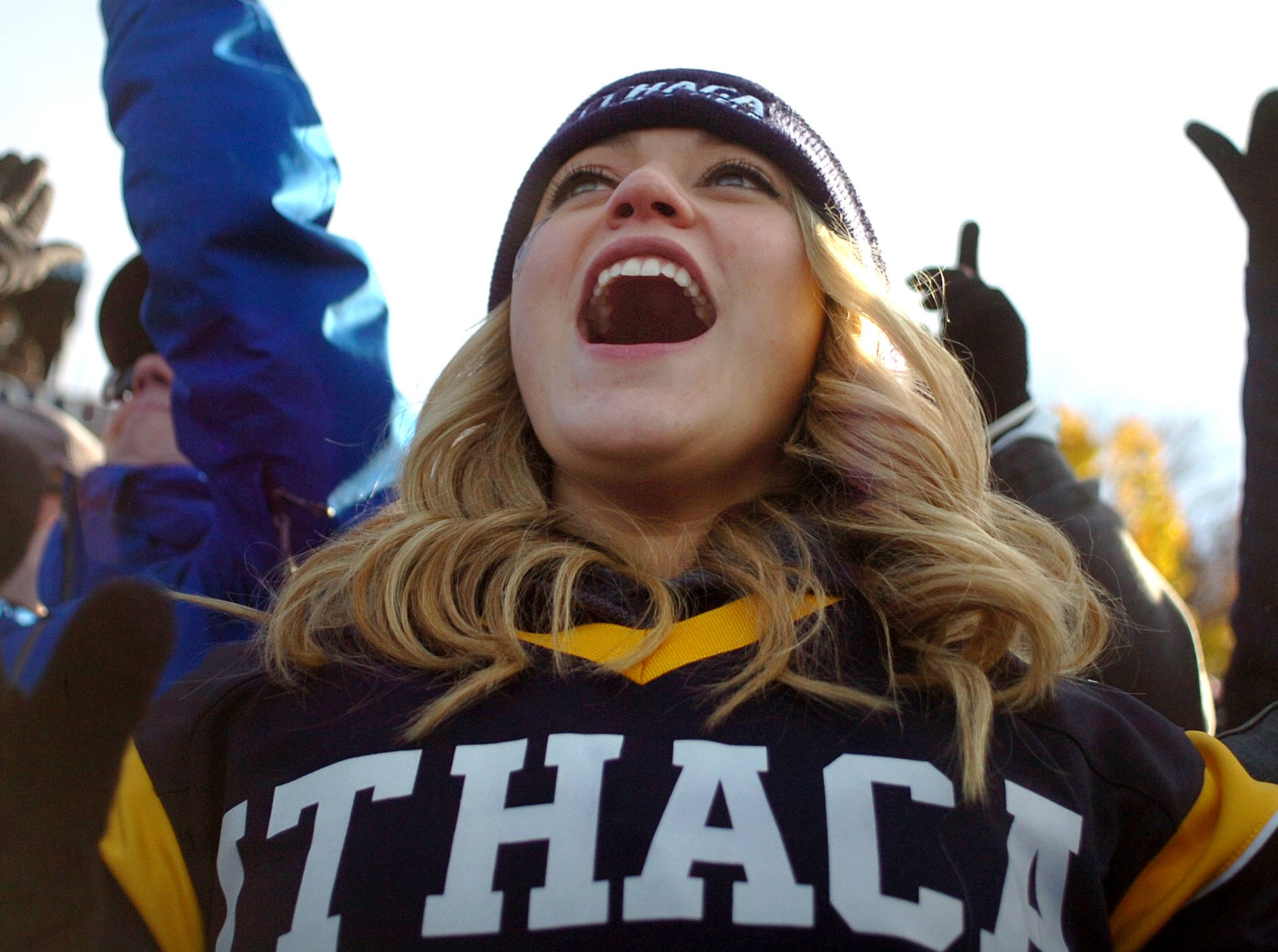 "2017: The 59th annual Cortaca Jug, known as the ""biggest little game in the nation,"" held on Saturday, November 11, 2017, at Butterfield Stadium in Ithaca. Ithaca College defeated SUNY Cortland with score of 48-20."