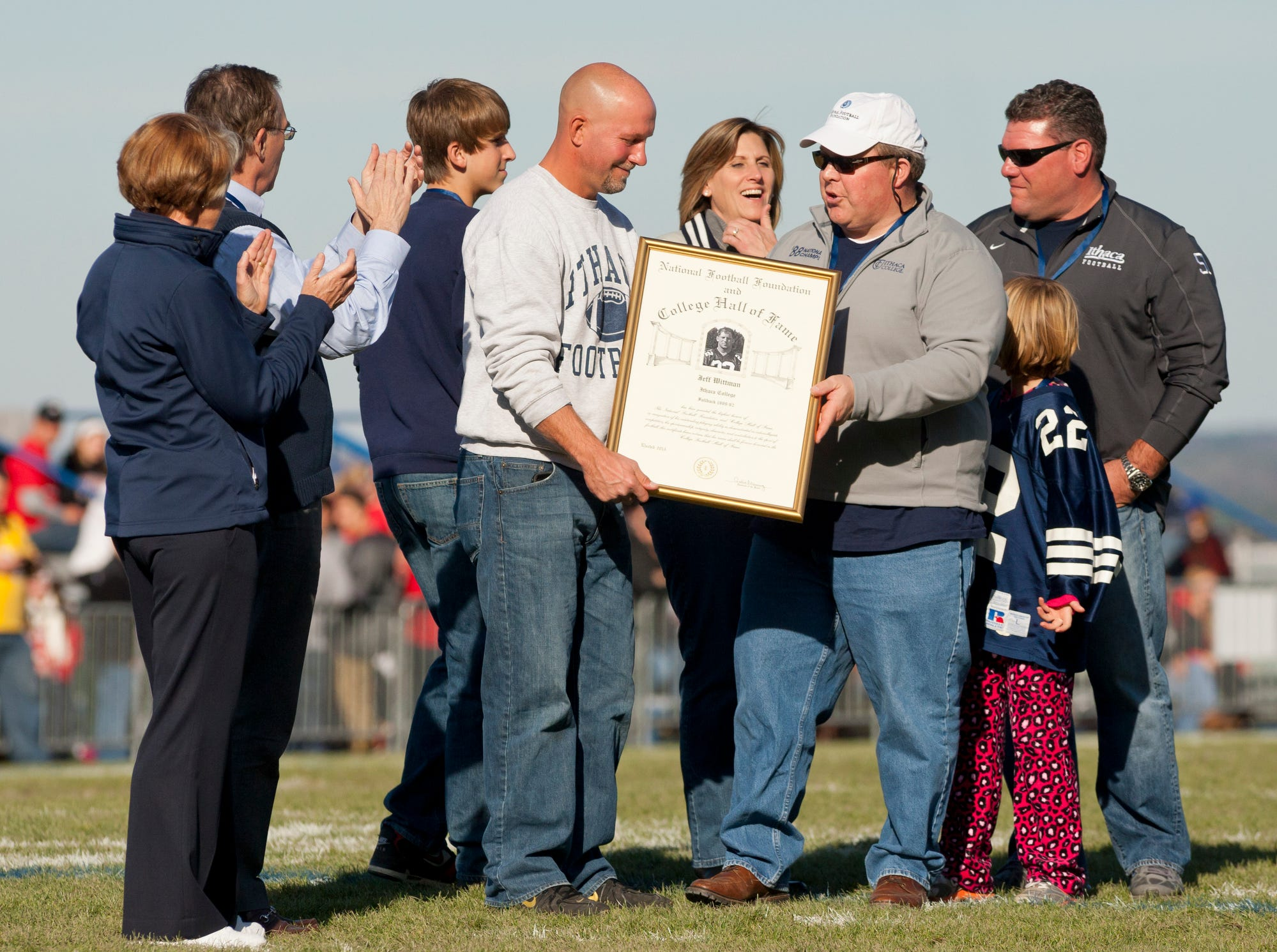 2013: Jeff Wittman, a three-time first-team All-American and holder of ICÕs career rushing yardage and touchdowns records, is honored in a halftime ceremony following his induction this fall into the College Football Hall of Fame.