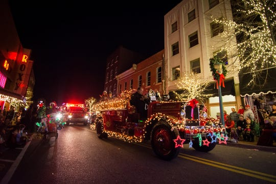 Clarksville offers a parade of lights for spectators of all ages.