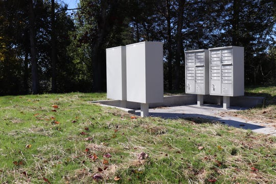 Two cluster mailboxes are being used in lieu of traditional mailboxes at the Emory Brooke subdivision, due to a new USPS recommendation. The subdivision is still under construction as of Oct. 29, 2018.