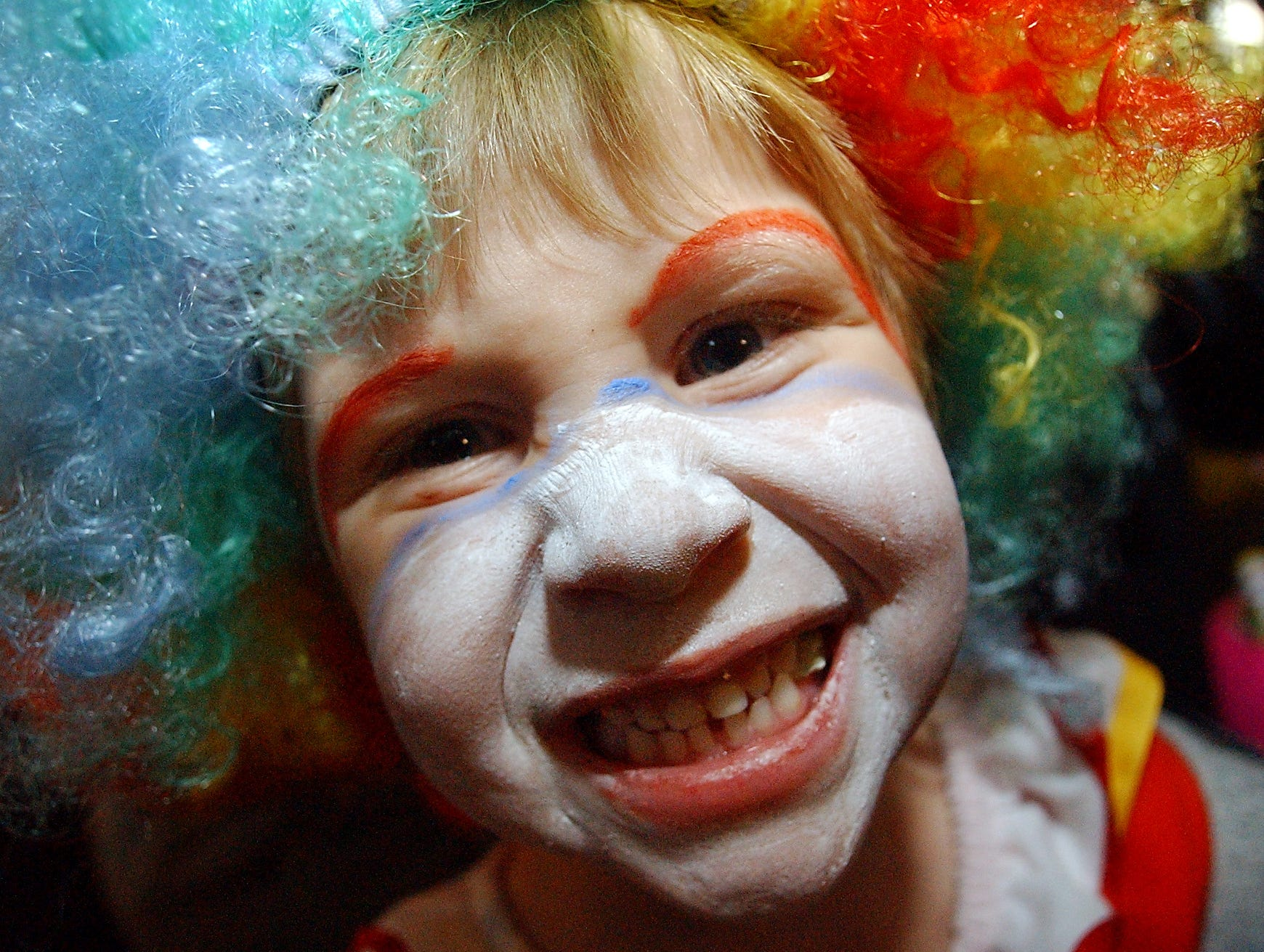 Nicole Ball, 4, of Newport, dressed as a clown for Halloween and took part in the Boo at the Zoo festivities at the Knoxville Zoo on Wednesday.