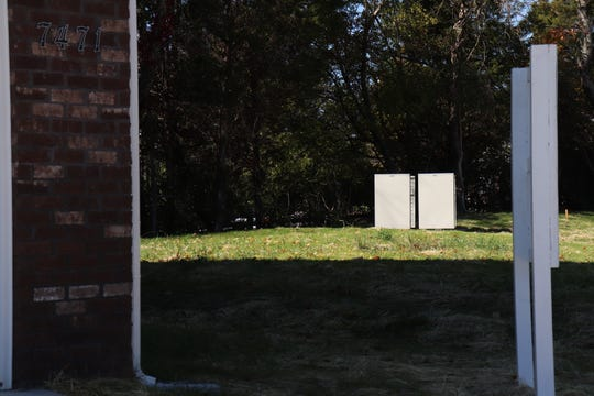 The cluster mailboxes lie by the entrance of the Emory Brooke subdivision, a short walk away from people's homes. As of Oct. 29 2018, the area was still under construction.