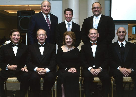 Randy Haynie, seated second from left, with the Lafayette General Foundation board of directors in 2016.
