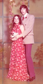 Daynese Durand and Randy Haynie at the 1973 Acadiana High School prom.