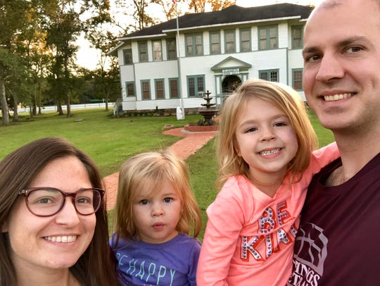 Now the Elizabeth Town Hall, this building was built in 1924 as a hospital for the local lumber company, the Industrial Lumber Company. Reporter Leigh Guidry and family found it along the Myths & Legends Byway. Reporter Leigh Guidry and family found it along the Myths & Legends Byway.
