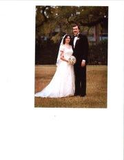 Daynese and Randy Haynie on their wedding day.