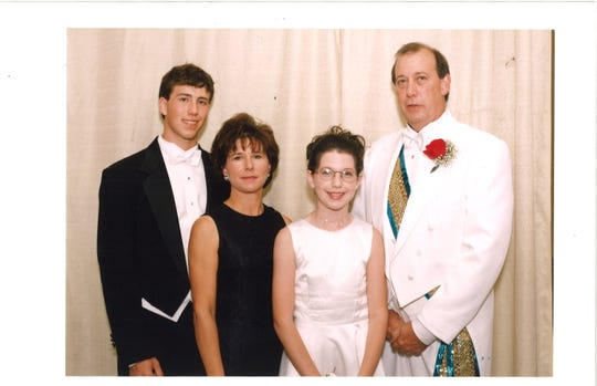 The Haynie Family -- Ryan, Daynese, Dayna and King Louis XX -- at the 1998 Bishop's Ball.