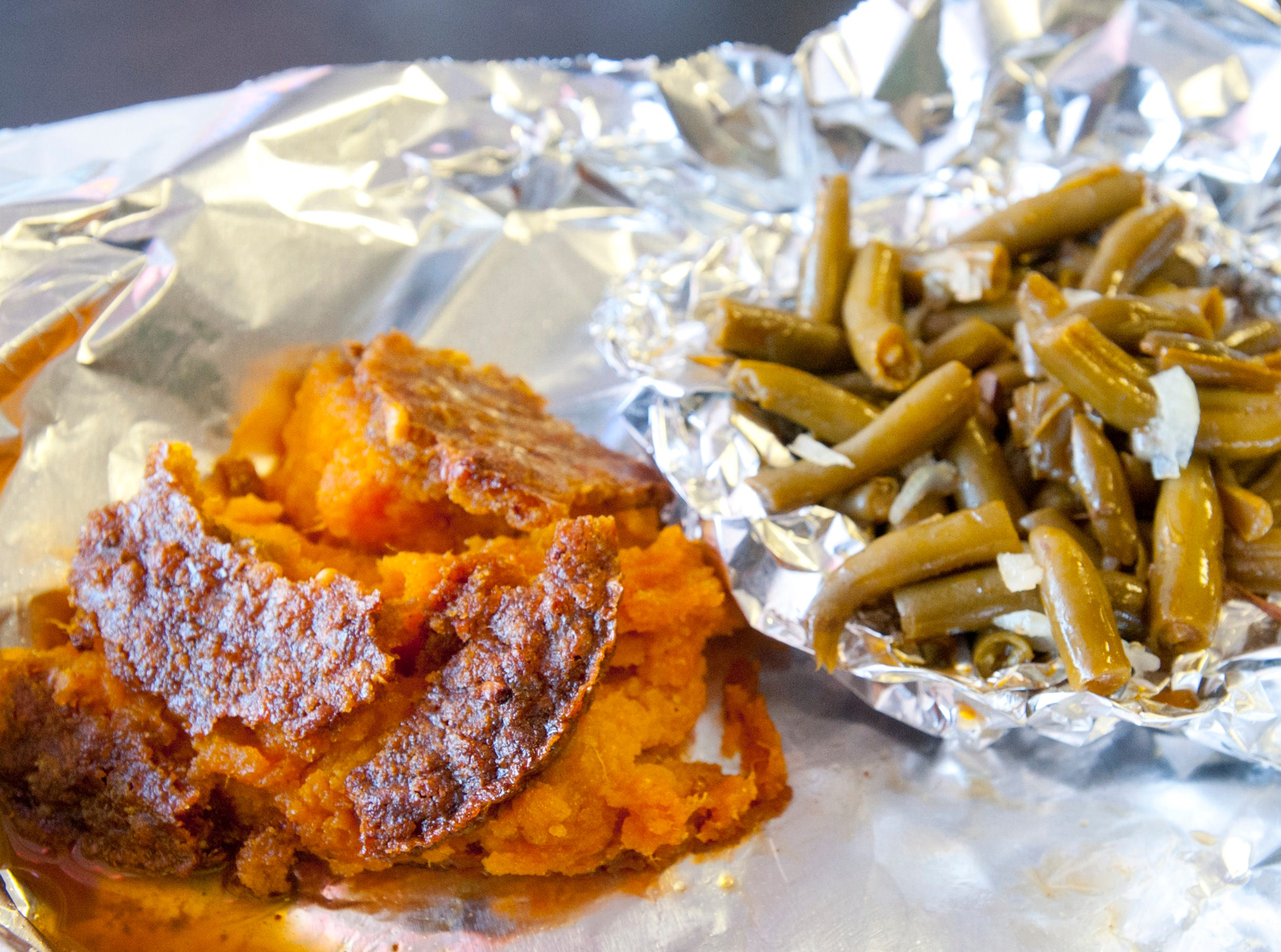 Among the sides at Babie Bac'z Good Grill is its sweet potato casserole made with sweet potatoes, caramelized brown sugar, pecans and cinnamon, and the eatery's home-style green beans made with the restaurant's original dry rub seasoning and jowl bacon.