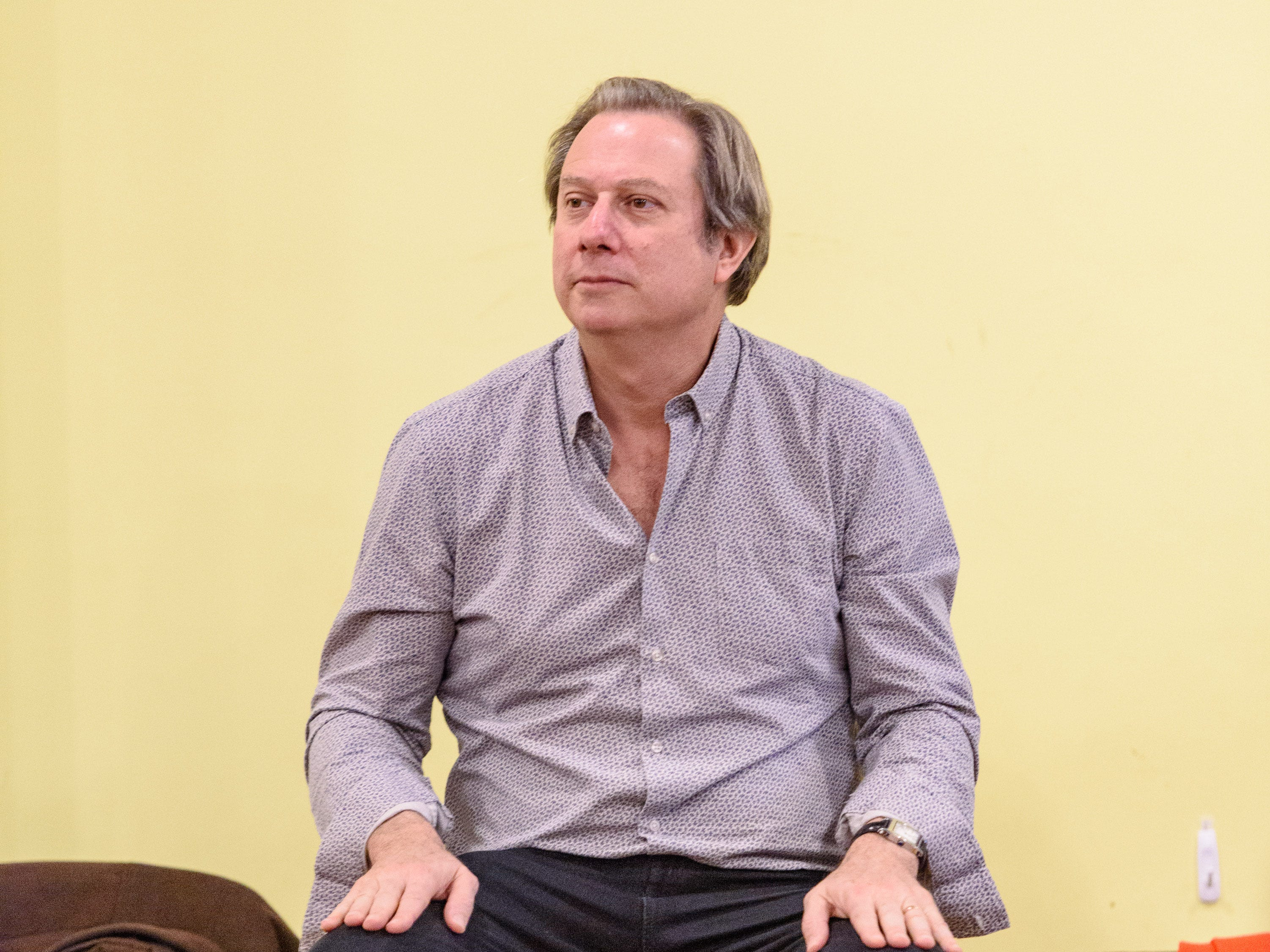 David Stern conducts in Kentucky Opera's production of ÒEnemies, A Love Story,Ó in their rehearsal space at the Brown Theater. Oct. 27, 2018