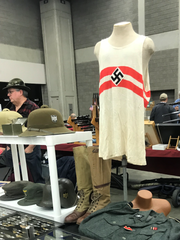 WWII-era Nazi gear was on display at the Louisville Expo Center.