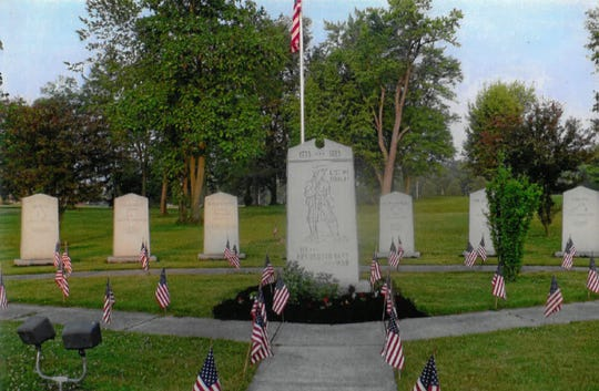 It took two years to raise the money for the Revolutionary War monument, the largest at Veterans Memorial Park.