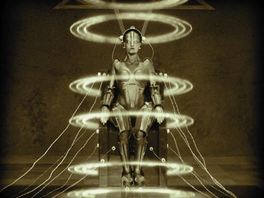 """Before C-3PO there was the robot of """"Metropolis,"""" the film milestone that will be screened at 8 p.m. Friday on the """"giant"""" screen at the Memphis Pink Palace Museum."""