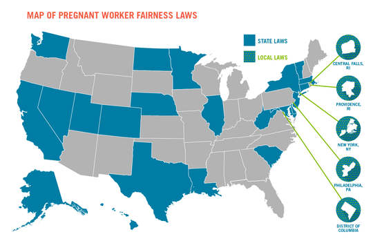 Similar to legislation forthcoming in Tennessee, the Pregnant Workers Fairness Act is currently in place in 23 states and five municipalities across the country