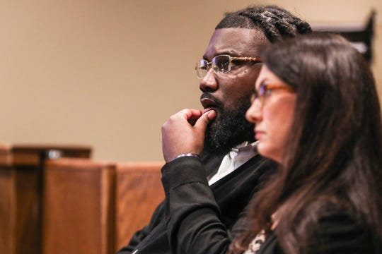Tremaine Wilbourn is seen inside of Judge Lee Coffee's courtroom on Oct. 29 as jury selection begins for his upcoming trial. Wilbourn is charged with fatally shooting Memphis police officer Sean Bolton on Aug. 1, 2015.