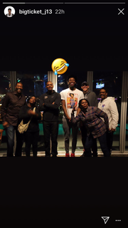 Memphis target James Wiseman's Instagram photo with his mother Donzaleigh Artis, his sister Jaquarius Greer and the Memphis basketball coaching staff.