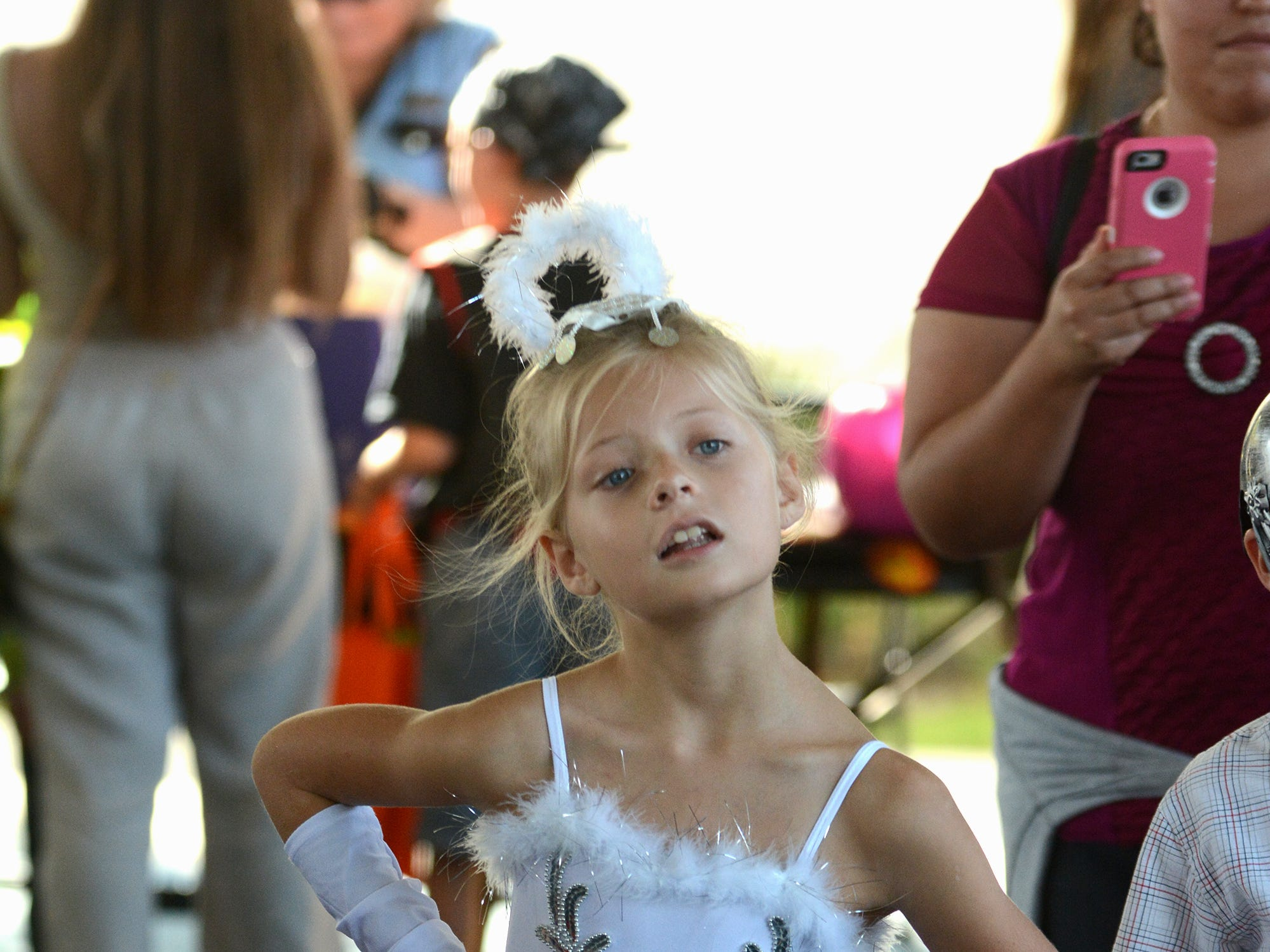 Ballerina Emma Bratus, 7, does the Hoky Poky. The Spooktacular, the City of Marco Island's pre-Halloween celebration, returned to Mackle Park's air-nasium on Saturday afternoon, with costumes, games and family fun.
