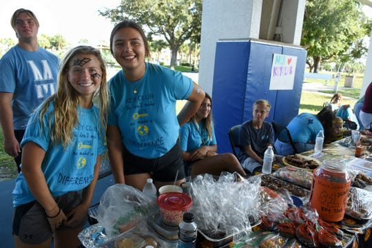 MIA Key Club president Teagan Havemeier, left, and VP Jayce Dawson sell baked goods. The Spooktacular, the City of Marco Island's pre-Halloween celebration, returned to Mackle Park's air-nasium on Saturday afternoon, with costumes, games and family fun.