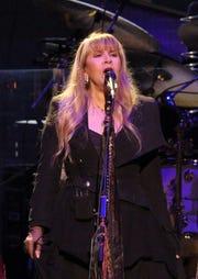 Stevie Nicks of Fleetwood Mac performs at Fiserv Forum Sunday, Oct. 28, 2018.