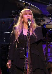 Stevie Nicks of Fleetwood Mac performs at Fiserv Forum Sunday, Oct. 28, 2018.