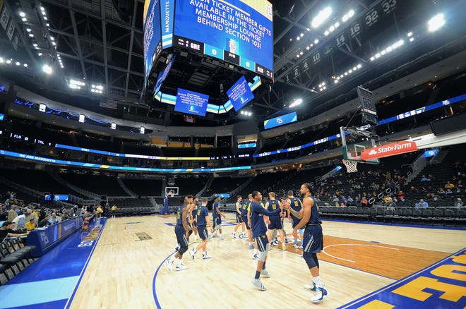 Marquette players take to the court for a public practice at Fiserv Forum, their new home, on Thursday, October 25, 2018.