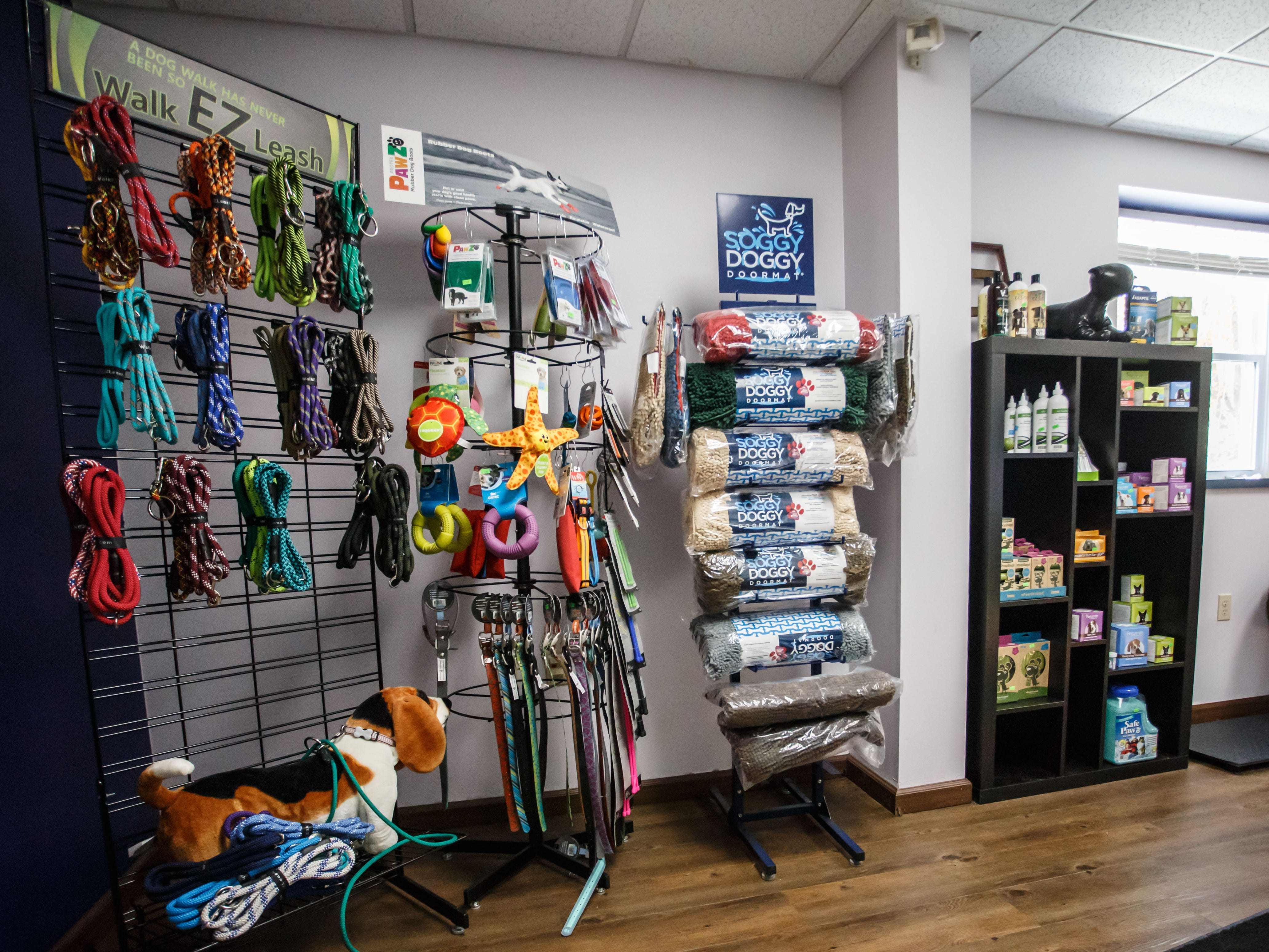 Aqua Therapups in Slinger offers a heated indoor swimming for dogs that can be used for rehabilitation, exercise or just plain fun. They also carry a variety of accessories and doggie safe treats as seen on Monday, Oct. 29, 2018.